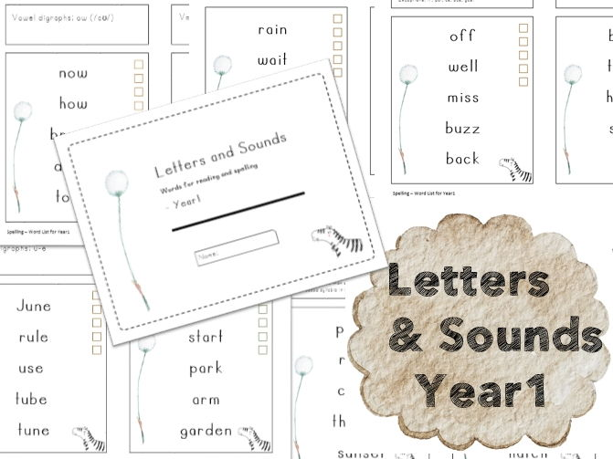 SPaG Spelling Test] Spelling Word List for Year1
