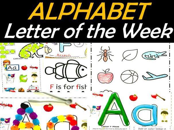 Alphabet Letter of the Week A to Z Fine Motor Fun | Back to School MEGA Bundle