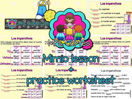 Los imperativos en español MIMIO