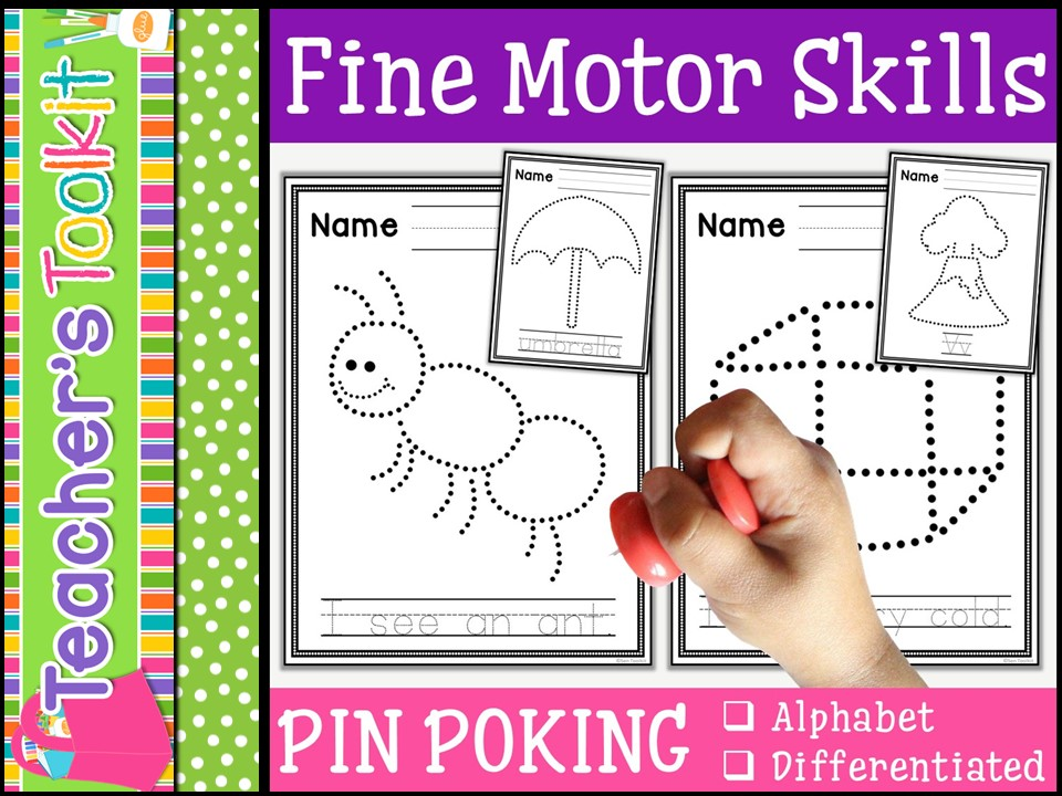 Motor Skills:  Pin Poking Alphabet