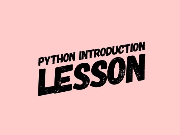 FREE Python lesson - Introduction to Python