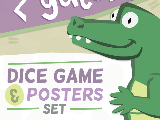 Greater Gator Game & Poster Set – Greater Than/Less Than