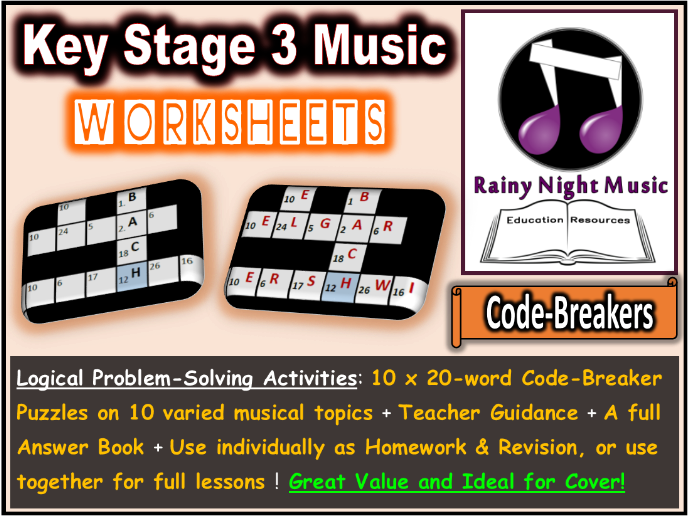 Music Worksheets Code Breaker Puzzles