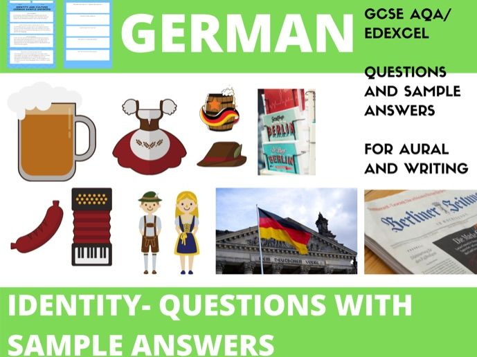 German Identity Questions WITH Sample Answers