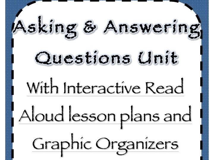 Asking and Answering Question ELA Unit