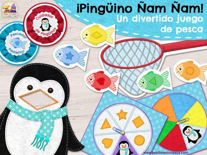 ¡Pingüino Ñam Ñam! Juego Para Practicar Colores y Formas