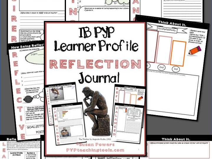 IB PYP Learner Profile Reflection Journal for Big Kids