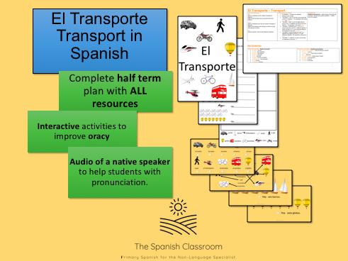 El Transporte Transport Spanish