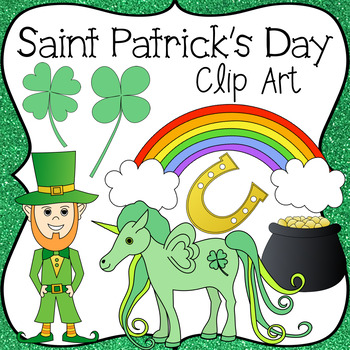 Saint Patrick's Day Clip Art, Color & Black Line .PNG Images Included!