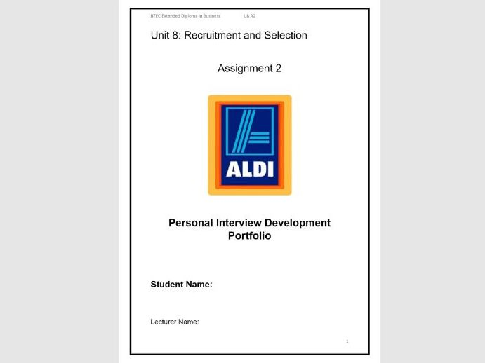 Unit 8 Recruitment and Selection Assignment 2 create job offer and reflect on individual performance