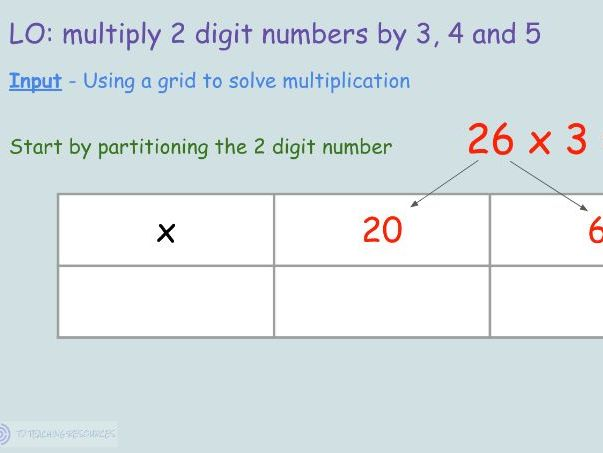 Year 3/4 - Grid Multiplication