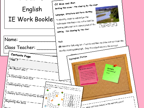 English IE/Isolation/Homework Work Booklet YEAR 7