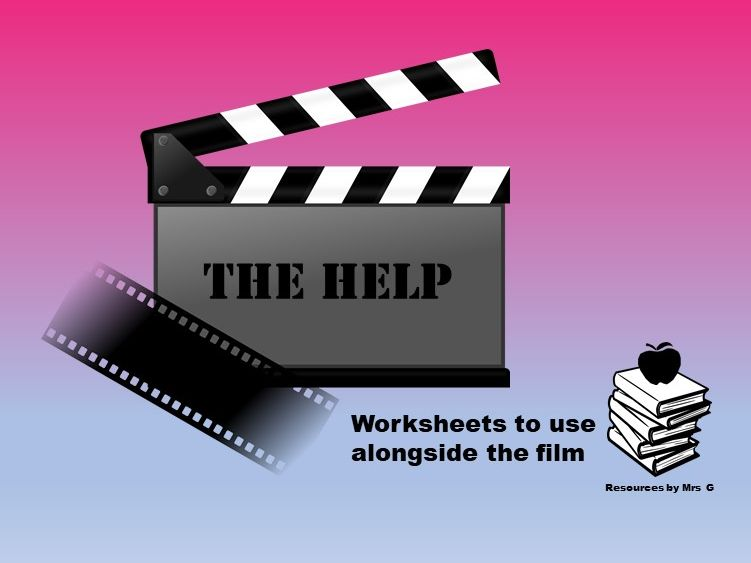 The Help Film Tasks - Editable