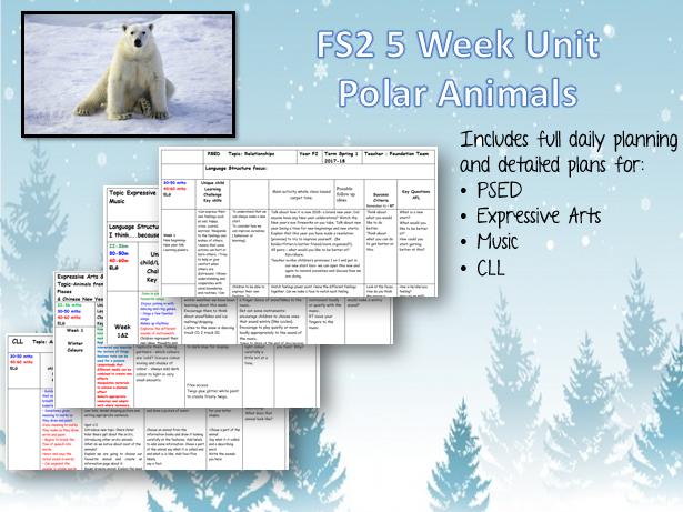 POLAR ANIMALS - 5 week unit for FS2