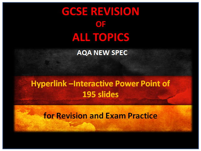 GCSE REVISION - ALL TOPICS- AQA NEW SPEC- Revision and practice