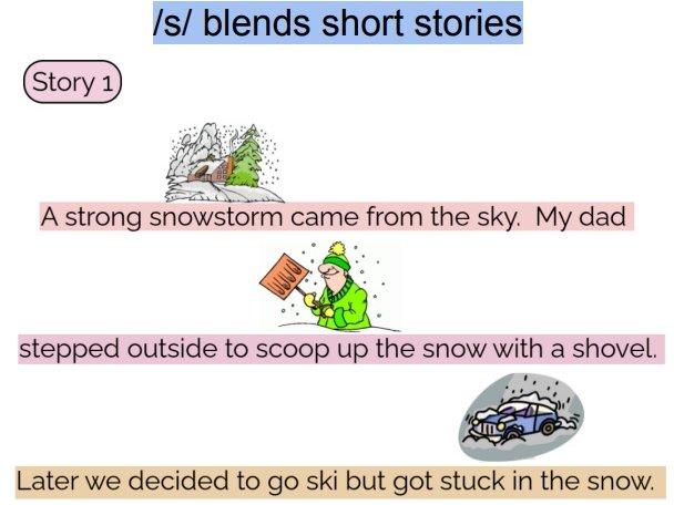 Articulation short stories: /t/ final and /s/ blends