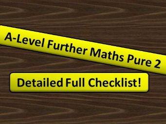 A-Level Further Maths (2017) Further Pure Maths 2 Checklist