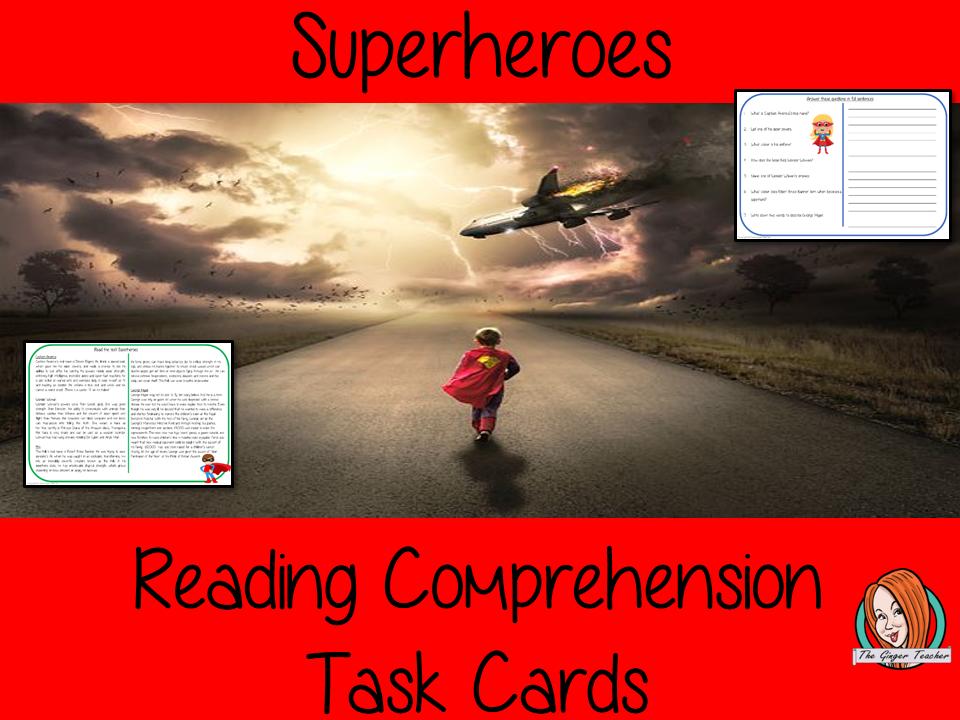 Superheroes Reading Comprehension Cards