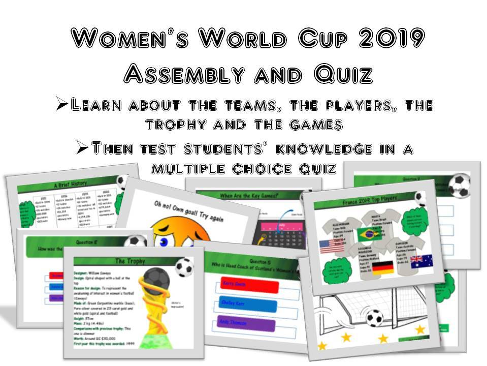 Women's World Cup 2019 Assembly and Quiz Bundle