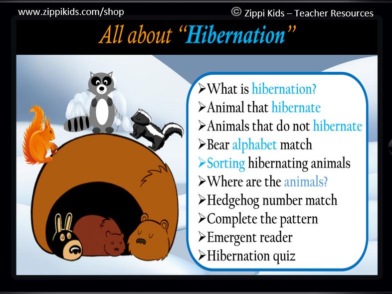 Hibernation Math and Literacy Unit | January | Animals - 65 Google Slides