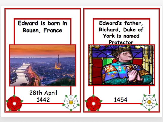 Edward IV Timeline Cards