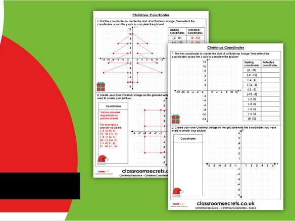Christmas Year 6 Coordinates Activity