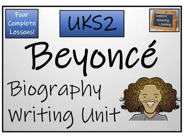 UKS2 Literacy - Beyonce Biography Writing Activity