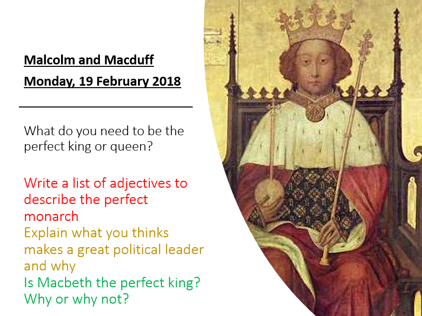 Macbeth - Macbeth Revision - Malcolm