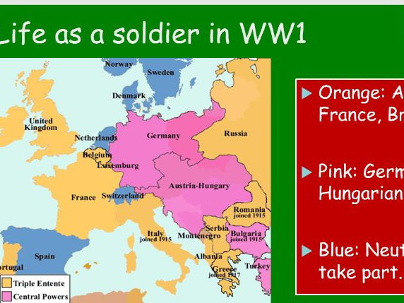 Life as a Soldier WW1 KS3