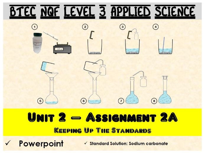 BTEC NQF L3 Applied Science: Unit 2: Assignment A: Standard Solution powerpoint