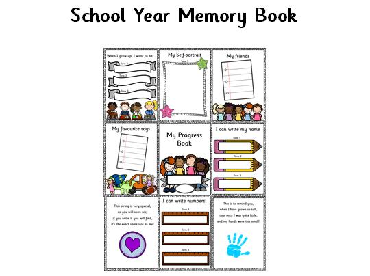 Early Years Progress Memory Book