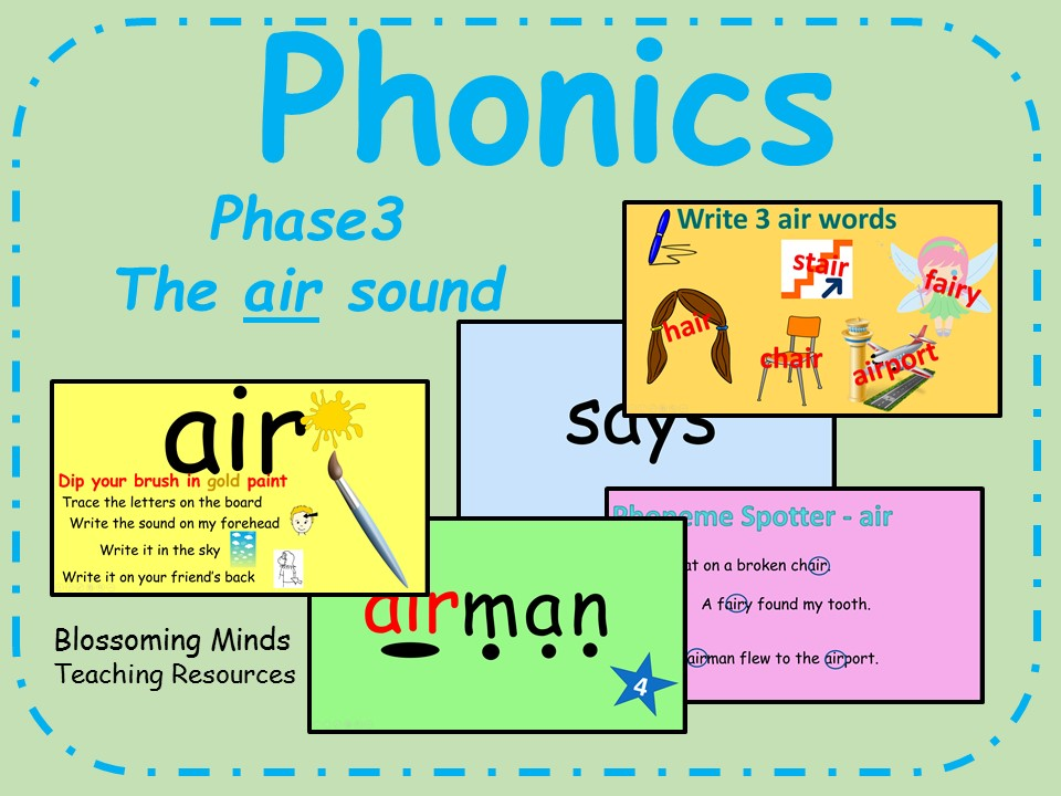 Phonics Phase 3 - The 'air' sound