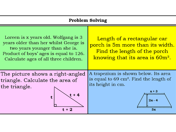 Challenging word problems on quadratic equations