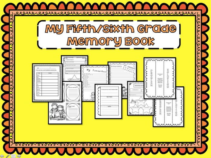 End of the Year Memory Book for Grades 5 and 6 - Interactive Notebook