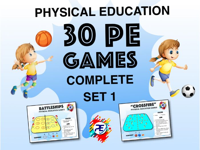 30 PE Activities and Games (Part 1) - Physical Education - Grades PP - 8