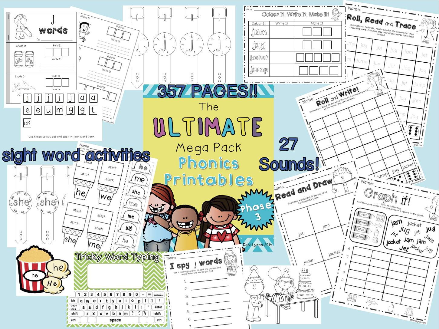 Ultimate Phase 3 phonics pack