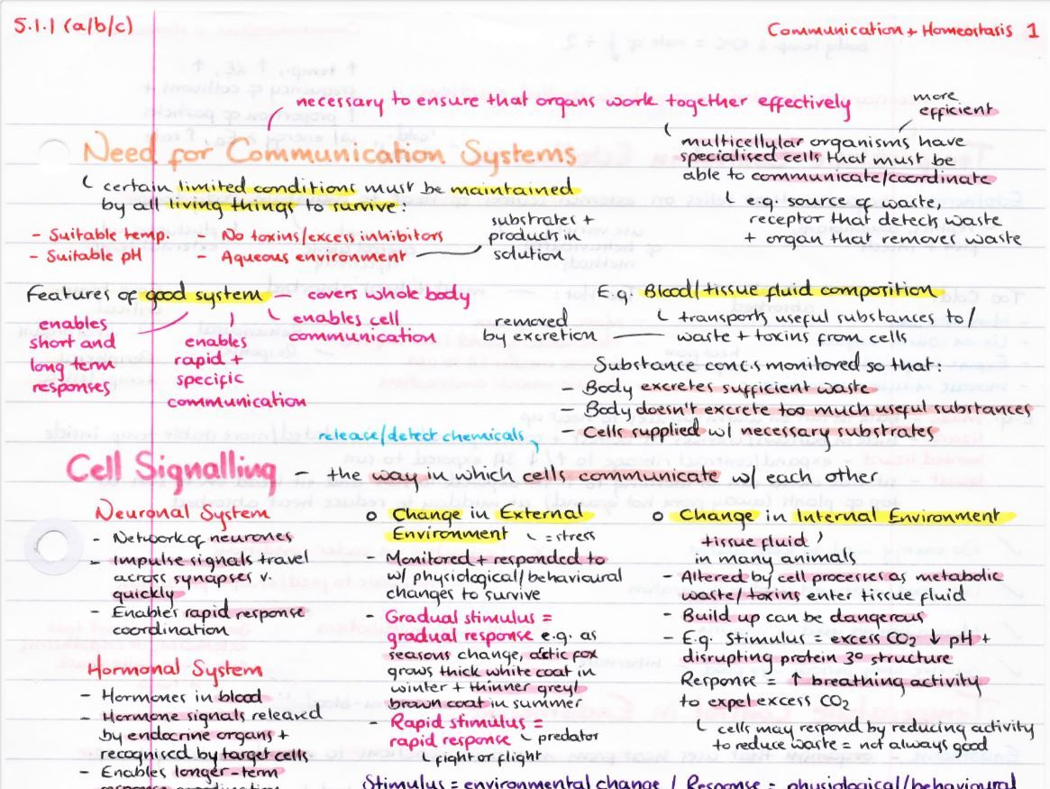 OCR A Level Biology Module 5 Revision Posters
