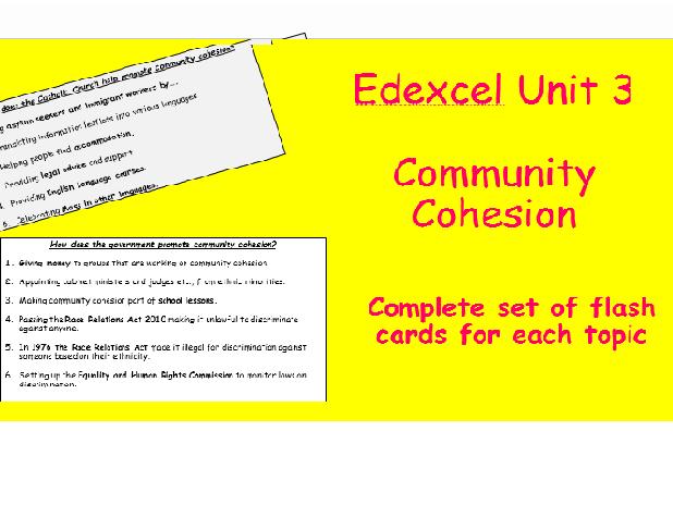 Edexcel Christianity Unit 3 Community Cohesion Flash Cards
