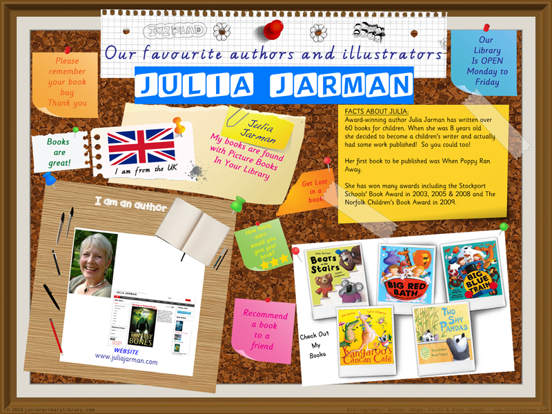 Library Poster - Julia Jarman UK Author Of Picture Books