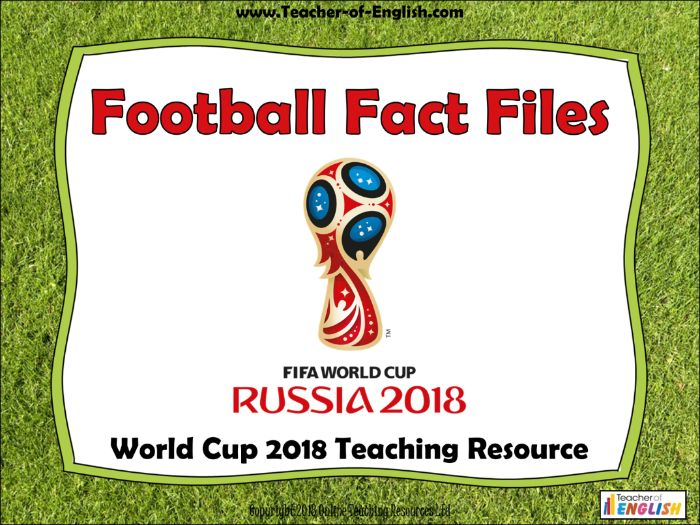 World Cup 2018 – Football Fact Files (45 slide PowerPoint teaching resource)