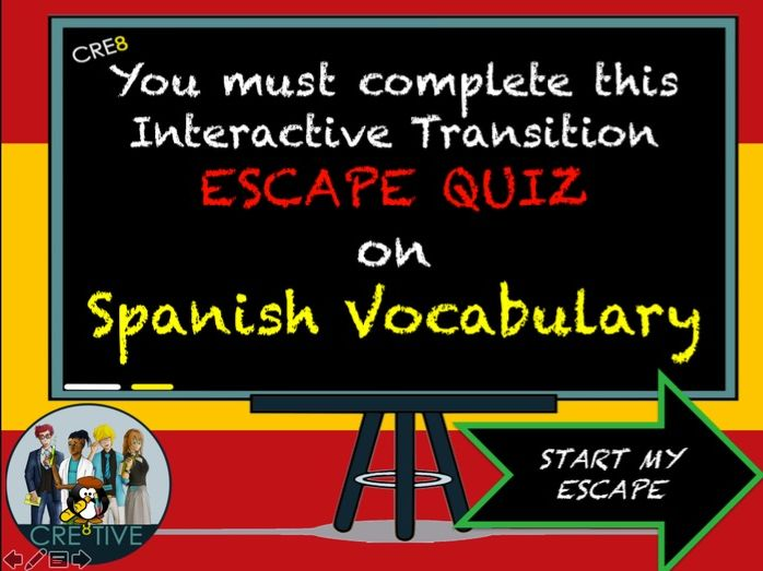 Spanish MFL Escape Room Quiz