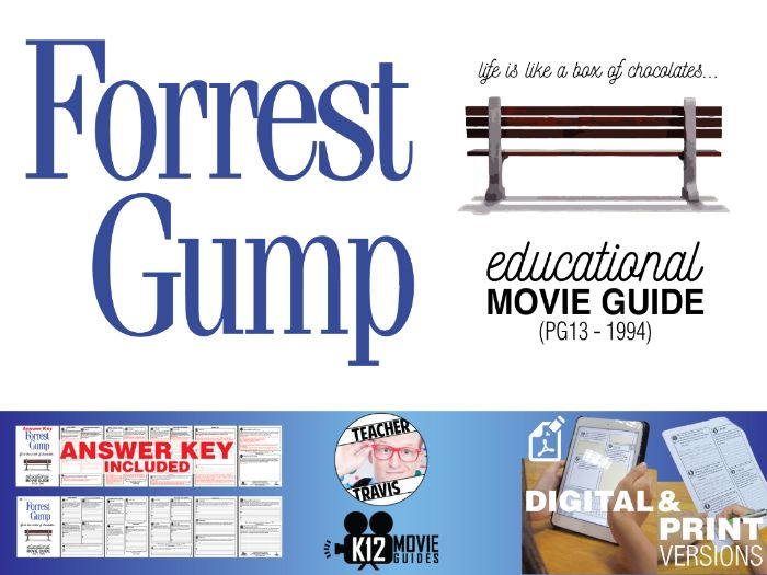 Forrest Gump Movie Guide | Questions | Worksheet (PG13 - 1994)