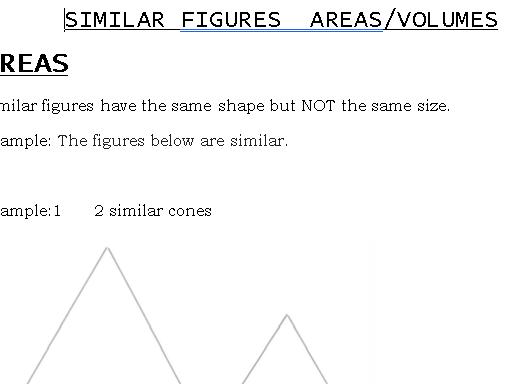 Similar Shapes Areas/Volumes GCSE (9-1)