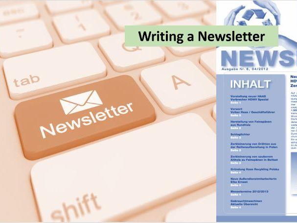 Writing a Newletter