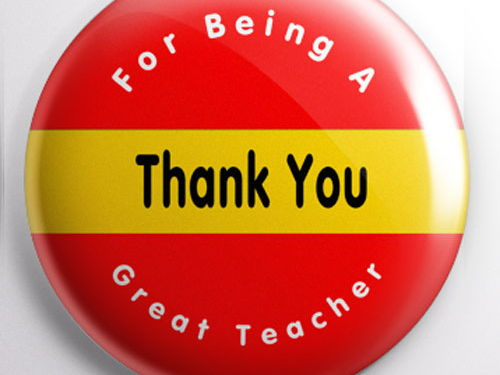 Teacher Badge - Thank You for Being a Great Teacher