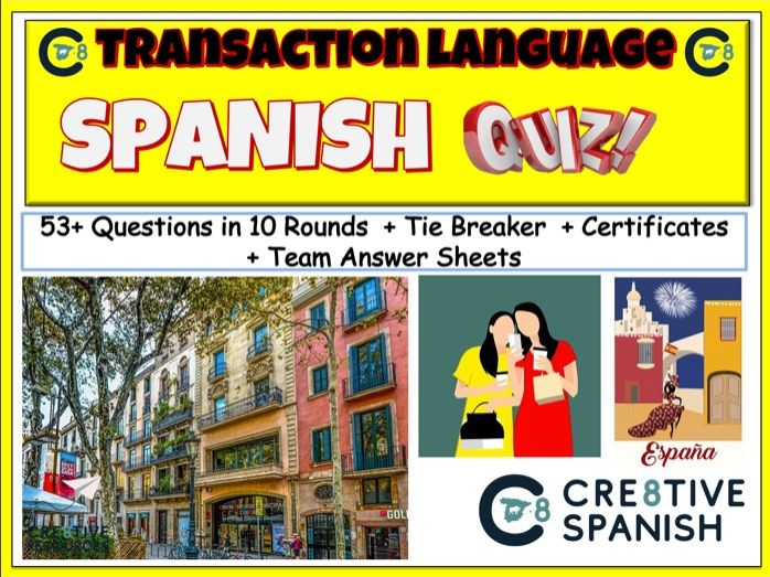 Transaction Language - Spanish GCSE