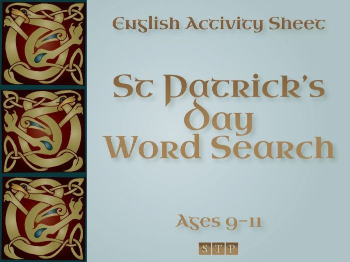 St Patrick's Day Word Search (+ Solution!) (English Activity Sheet: Ages 9-11)