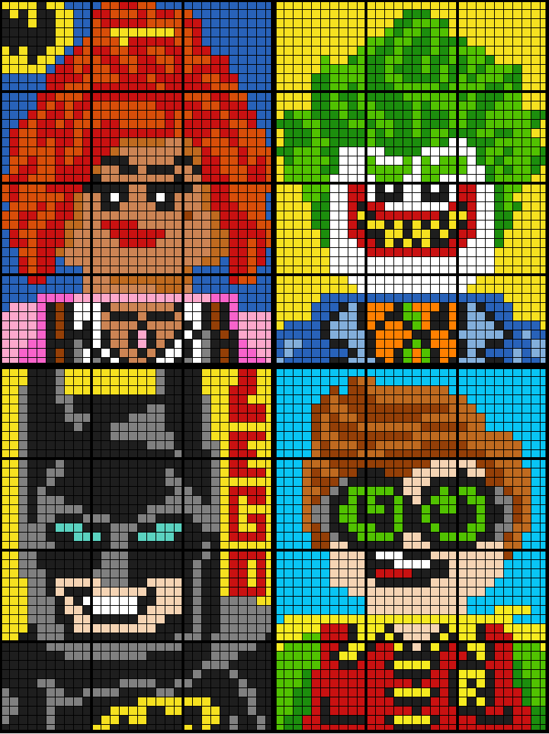 Colouring by Ratio Application, Lego Batman BUNDLE (four 12-sheet collaborative math mosaics)