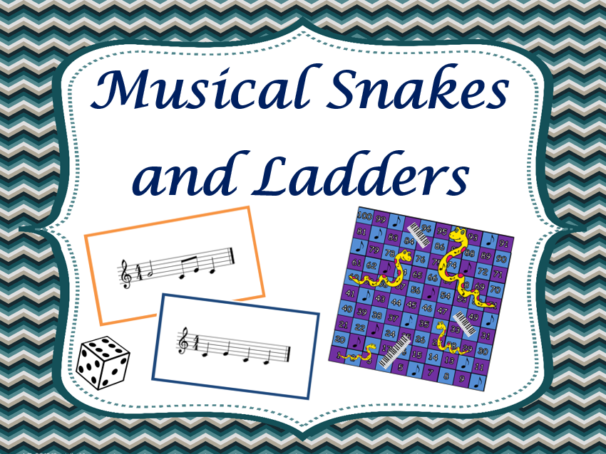 Musical Snakes and Ladders (notes and rhythms)