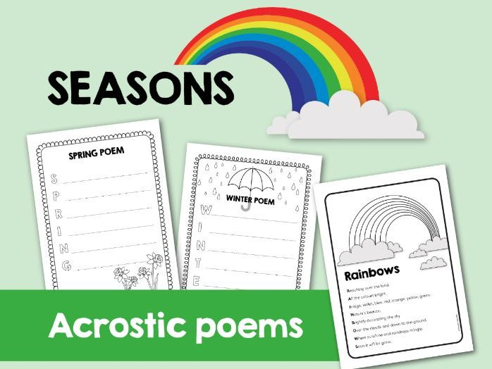 Acrostic Poems for Seasons. Poem study + creative writing.